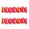 Cut 11/0 Opaque Red Aurora Borealis Strung